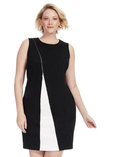 Plus Size ALFANI Zip Detail Sheath Dress