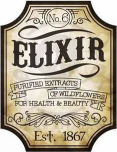 ☤ MD ☞✪ Embroidery Designs at Urban Threads - Elixir Apothecary Label. Potion Labels, Potion Bottle, Jar Labels, Bottle Labels, Food Labels, Menu Halloween, Halloween Potions, Vintage Halloween, Vintage Witch