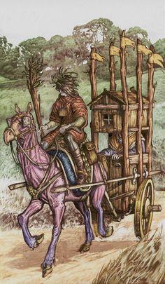6 de bâtons - Universal Fantasy Tarot par Paolo Martinello