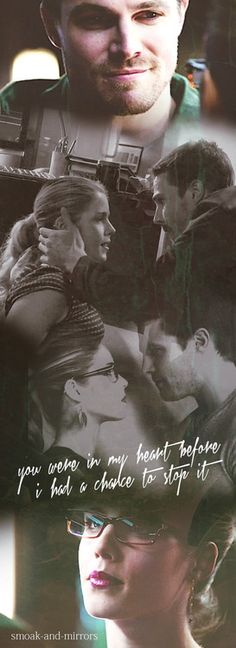 """""""Love is the most powerful emotion"""" #Olicity ♥"""
