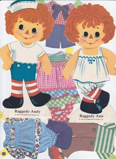 Raggedy Anne and Andy  (from Garden Of Daisies: Paper Doll page)