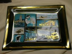Vintage 1962 Smoke Glass Tray  Brooks Oil Company Semi Truck Mid Century #BrooksOilCompany