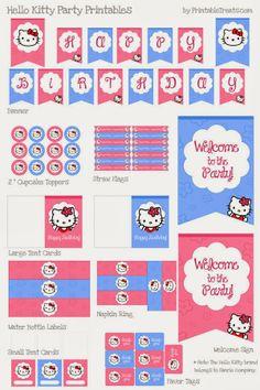 Kit de Hello Kitty para chico y chica, para Imprimir Gratis.