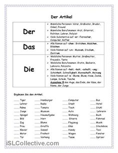 32 best Artikel images on Pinterest in 2018 | German grammar, German ...