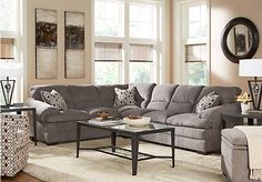picture of Round Rock 2 Pc Shale Gray Sectional  from Sectionals Furniture
