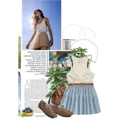 Blue .. <3, created by samah on Polyvore