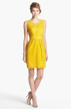 jenny yoo 'harlow' tea lace sheath dress