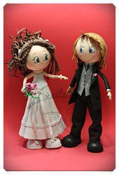 Fofuchas novios para boda  www.xeitosas.com