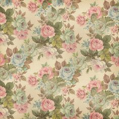 Blue and pink roses on off white background