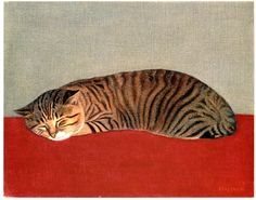 Painting of a cat at Miyagi Museum of Art. By Lone Jiro Hasegawa潾 (if that's incorrect, then Google translation has done me wrong).