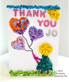 Tissue paper thank you cards
