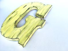 Last piece wooden letter G pine wood wall Decor sign living room decor yellow kids decor Shabby chic letter Distressed wooden sign Shabby Chic Letters, Rustic Letters, Wooden Letters, Shabby Chic Decor, Wooden Signs, Wooden Wall Decor, Wooden Walls, Letter G, Other Rooms