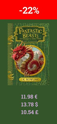 You should also read the book Fantastic Beasts   Where to. Now it is 22% off on bookdepository. J.K. Rowling is the author of the record-breaking, multi-award-winning Harry Potter novels. Loved by fans around the world, the series has sold over 450 million copies, been translated into 79 languages, and made into eight blockbuster films. She has written three companion volumes in aid of charity: Quidditch Through the Ages and Fantastic Beasts and Where to Find Them (in aid of Comic Relief and…