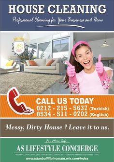 Istanbul Filipino Maids by AS Lifestyle Concierge and Real Estate Ltd. Sti.: House Cleaning Service