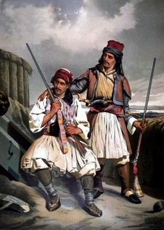 Military Art, Military History, Military Uniforms, Greek History, Art History, Greek Traditional Dress, Greek Independence, Albanian Culture, Greek Paintings