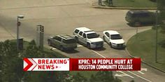 14 people were wounded in a stabbing spree at a community college outside Houston on Tuesday morning.