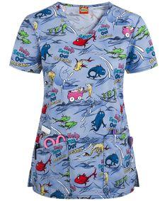 Cherokee Tooniforms Save Our Oceans Print Scrub Top, Dr Seuss Scrubs Vet Scrubs, Medical Scrubs, Veterinary Scrubs, Pediatric Scrubs, Pediatric Nursing, Cute Nurse, Scrub Jackets, Flare Leg Pants, Scrub Pants