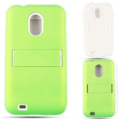 Unlimited Cellular Hybrid Fit On Jelly Case for Samsung Galaxy S2 Epic 4G D710 (Honey Emerald Green Leather Finish)