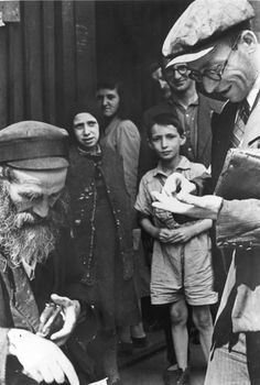 Warsaw, Poland, Jews in the ghetto. Taken by the German photographer Willi George in the summer of 1941. The photographs are unique in that they were not staged, but showed the ghetto as it truly was.