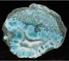 Larimar a.k.a. Blue Pectolite, is very rare and is only found in the Dominican Republic. This mineral is a mixture of beautiful Caribbean Copper Blue-Green colors. Occasionally Hematite Dendrites, Calcite and Natrolite inclusions occur. This sought after stone is a relatively new discovery.