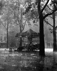 Robert Doisneau // Fairground Festivals -   Le manège de Monsieur Barré, Paris 1954