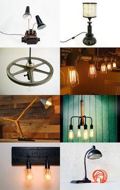 My Etsy Industrial Lighting Treasury