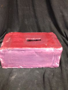9.5x6x4 From multiple slabs I crafted a rectangular shaped box to hold Kleenex tissue boxes.