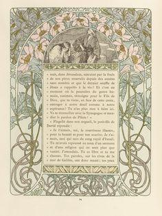 Cloches de Noël et de Pâques, by Émile Gebhart.(1839-1908). Illustrated by Alphonse Mucha.(1860-1939). H. Piazza et Cie. L'Édition d'Art, 4 rue Jacob, Paris.1922.