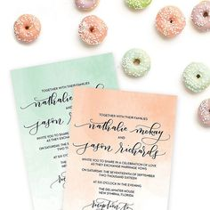 The Nathalie suite is getting a facelift!  Do you like her new colors? Helpful tip: these colors can actually be customized to fit your chosen wedding colors as well! Also  If you're getting married in the spring you'll want to start planning your invitations now.  [gorgeous hand lettering done by @amandaarneill]