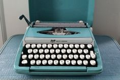 Check out this item in my Etsy shop https://www.etsy.com/listing/474991577/scm-smith-corona-turquoise-typewriter