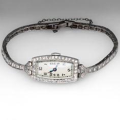 Diamond Vintage Wrist Watch