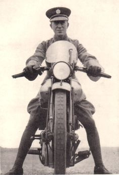 T.E. Lawrence on his 1932 Brough Superior