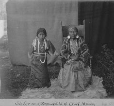 Sinkiuse-Columbia sister and granddaughter of Chief Moses, Colville Indian Reservation, Washington, ca. 1902 :: American Indians of the Pacific Northwest