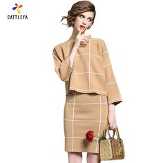 2016 Winter Set Women Knit Skirt Women' Skirts and Blouse Set Autumn 2016 Plaid Fashion Suits Women Two Piece Set Skirt and Top-in Women's Sets from Women's Clothing & Accessories on Aliexpress.com | Alibaba Group