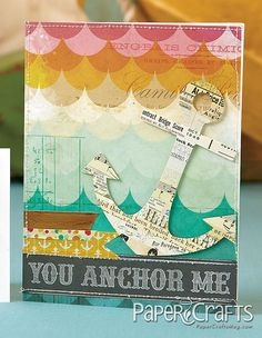 Mou Saha from the July/August 2013 issue of Paper Crafts magazine. Card Tags, I Card, Anchor Crafts, Sailing Theme, Paper Crafts Magazine, Nautical Cards, Cute Cards, Scrapbook Cards, Homemade Cards