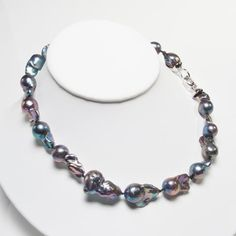 Black Pearl Pendant Necklace Black Pearl Jewelry, Baroque Pearl Necklace, Pearl Pendant Necklace, Baroque Pearls, Beaded Necklace, Necklaces, Large Black, Jewelry Ideas, Type