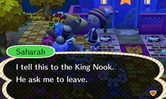 Who does Tom Nook think he is?! And as if he is now making people call him King! I, EmCat shall NEVER bow down *to be continued*