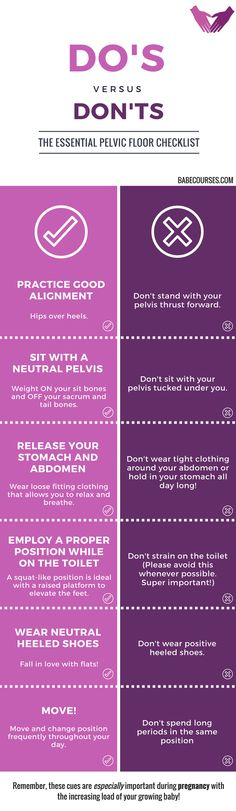 Checklist full of essential movements, habits, and lifestyle changes that are essential for pelvic floor health - especially during pregnancy!