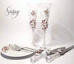 ¡¡Lindas copas decoradas para boda!!
