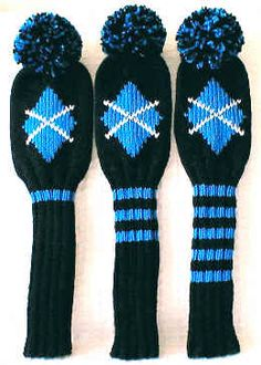 Knit Golf Club Headcover Designs