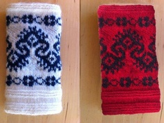 When I was in Dala-Floda I saw a fantastic cuff pattern on one of the twined knitted sleeves. It was a rather humbling. Knitting Stitches, Hand Knitting, Knitting Patterns, Loop Scarf, Scarf Hat, Fair Isle Chart, How To Start Knitting, Knit Wrap, Yarn Shop