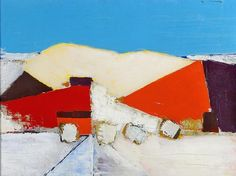 Nicolas de Staël, Collines à Agrigente, 1954, oil on canvas, 23 5/8 by 31 7/8 in. 60 by 81 cm. Courtesy of Mitchell-Innes & Nash