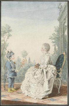 Madame de la Haye, fermière générale et son fils 1760 Tome 6 N°45