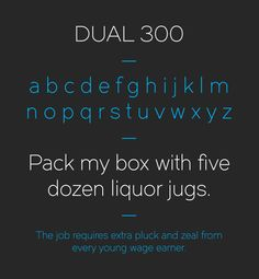 2.Free Font Of The Day  Dual 300