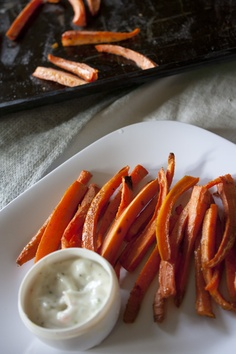 Baked Carrot Fries...may have to try this!