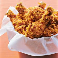 Oven-Fried Chicken recipe - the picture is of drumsticks, but this works great with chicken breasts, too.  This recipe made me not miss deep-fried anymore.