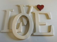 Hanging wood letters 12 LOVE Painted by sERINasCustomShop on Etsy, $80.00