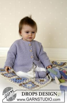 DROPS Baby - Jacket, socks, soft toy and blanket in Alpaca - Free pattern by DROPS Design Baby Knitting Patterns, Baby Patterns, Crochet Patterns, Free Knitting, Drops Design, Baby Gifts To Make, Cute Baby Gifts, Crochet Unicorn Pattern Free, Free Pattern