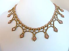FREE beading pattern for Framed Crystal Drops necklace