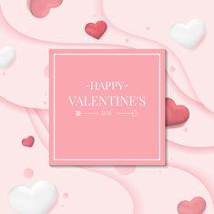 Valentine's day vector design concept Free Vector Valentine Day Calendar, Images For Valentines Day, Valentine Words, Valentine Theme, Happy Valentines Day, Free Calender, Valentine's Day Drinks, Valentine Background, Creative Background